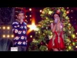 Яна Кошкина - Новогодняя ночь на Первом (2018) 1080i Голая? Грудь, декольте