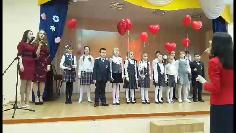 Песня маме ) Еленка поёт с хором