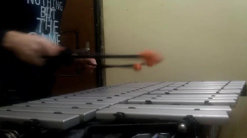 И.С. Бах Сарабанда на вибрафоне в личном будничном исполнении.