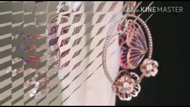 🦋Роскошные золотые серьги-подвески Бабочки из золота с эмалью и фианитами🦋 Цена 21725 Цена со скидкой 14125