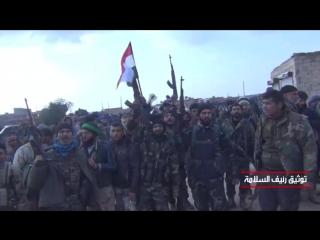 Первые моменты входа Tiger forces Сирийской Арабской армии на аэродром Абу эд-Духур
