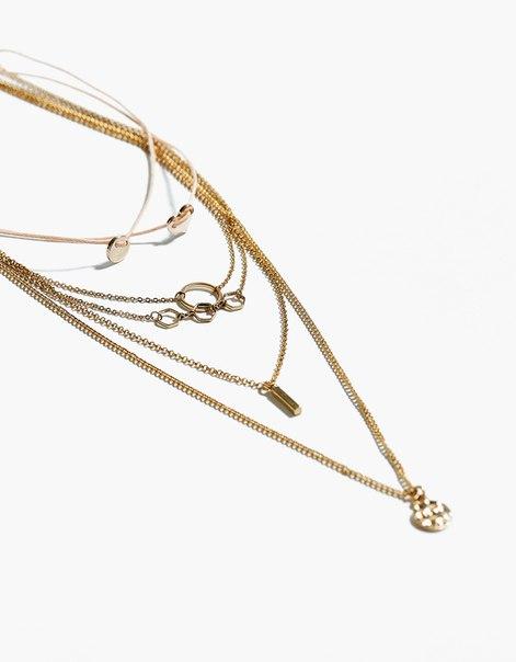 Ожерелье с несколькими цепочками