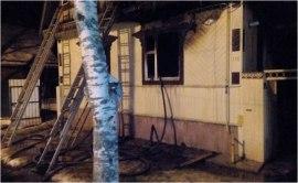 В Осташкове сгорел дом на ул. Тимофеевская