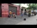 Девушка обалденно пела на улице, Мексика, Мехико, центр