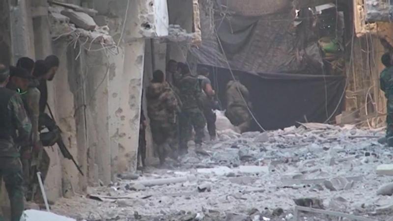 Сирия.14-12-2017.Сирийская армия и Национальная оборона отразили нападение боевиков ИГ в районе ат-Тадамон