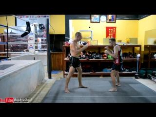 ОПАСНЫЕ ЛОКТИ в Муай Тай - сближение с ударами локтем, техника, обучение //STRONG DIVISION