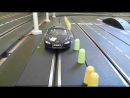 Audi R8 vs Porsche 911 One Battle 25 Runden Carrera Bahn Digital Slot 1 32