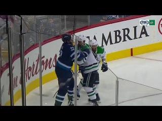 Jamie Benn vs Dustin Byfuglien (11/02/17)
