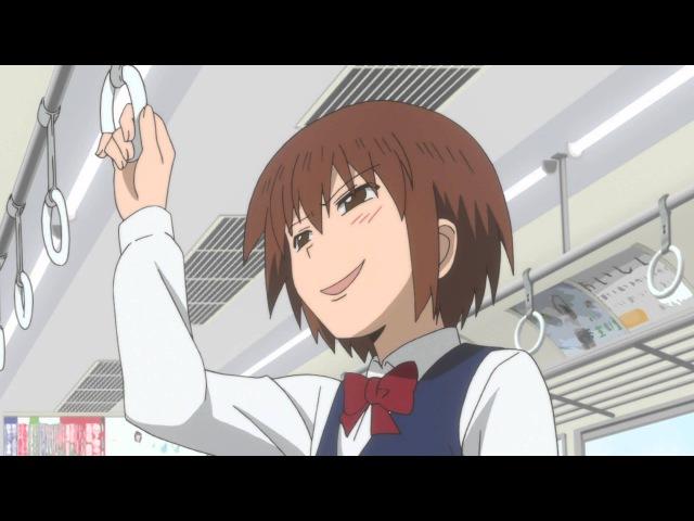 Danshi Koukousei no Nichijou - Sadist girl on train