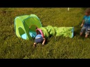 Дети играют в палатке и тоннеле БУСА IKEA Kids play tent and tunnel IKEA BUSA