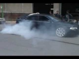 Audi A4 burn out and crazy smoke show !!!