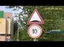В г.Мирный водители не соблюдают скоростной режим в жилых зонах