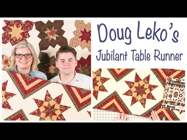 Jubilant Tablerunner by Doug Leko of Antler Quilt Design - Fat Quarter Shop