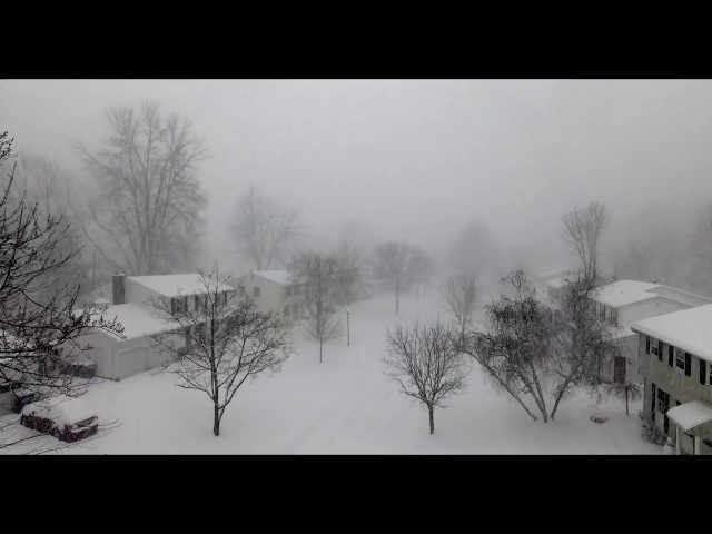 Time-Lapse: 28 inches of snow in 4 HOURS (with aerials)