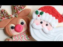 Christmas Cookies Santa Rudolph the Red Nose Reindeer Decorated Cookies Detailed Instruction