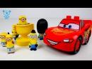 Minions vs Cars 3 McQueen Batman - Lego stop motion cartoon - Minions Cars 3 Toys Cartoon for kids
