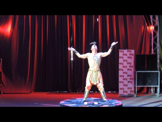 Цирк Демидовых,супергибкий человек