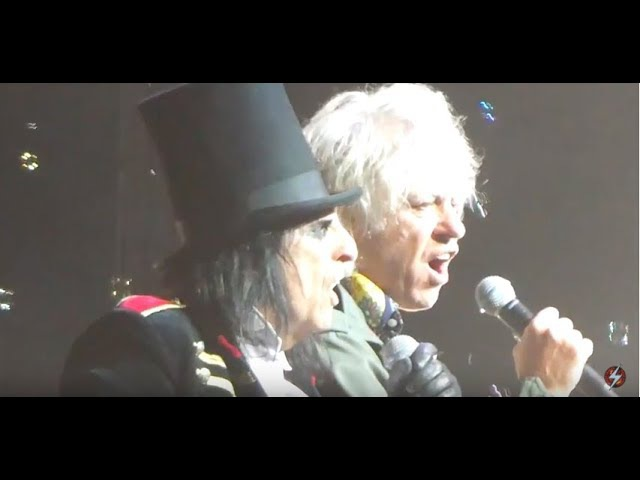 Alice Cooper with Bob Geldof -