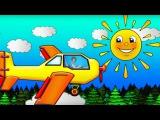 Мультики для детей. Полет на САМОЛЁТЕ с Машей #Капуки заправляем самолет! Видео  ...