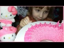 Платье и шапка за 3 минуты для Hello Kitty. Smart weaver. A dress and a hat in 3 minutes