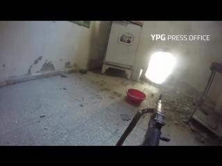 Зачистка зданий в Ракке курдами GoPro