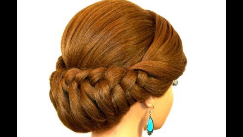 Плетение для волос средней длины. Очень элегантно!