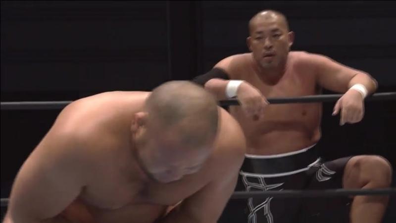 Tomohiro Ishii, YOSHI-HASHI vs. Tomoyuki Oka, Katsuya Kitamura (NJPW - G1 CLIMAX 27 - Day 6)