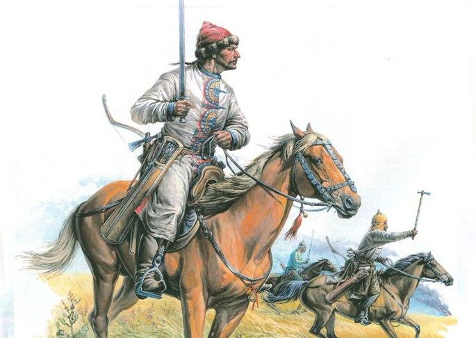 Атака хазарской конницы