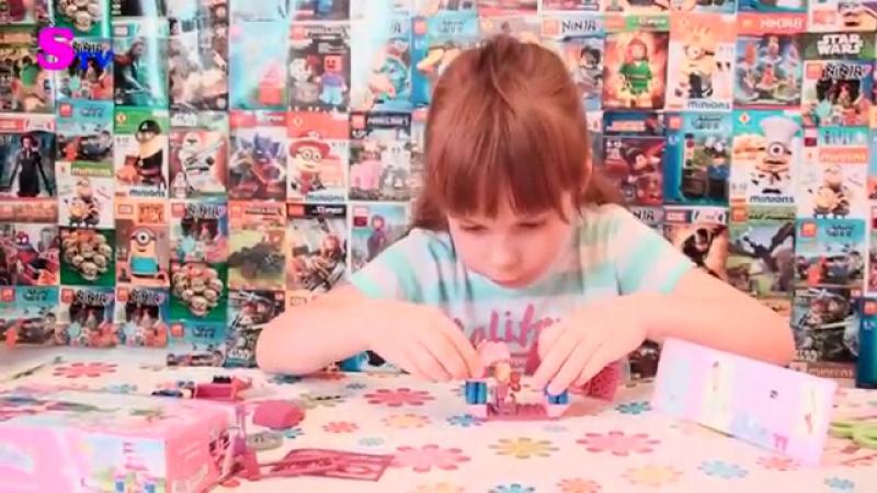 AUSINI- Соня открывает игровой Конструктор для девочек Страна Чудес Карета 57 деталей 24201.