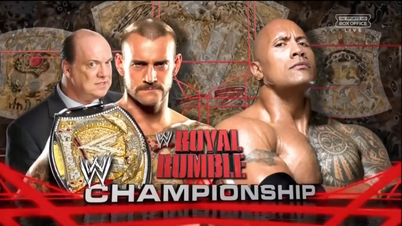 CM Punk vs The Rock Royal Rumble 2013 Highlights