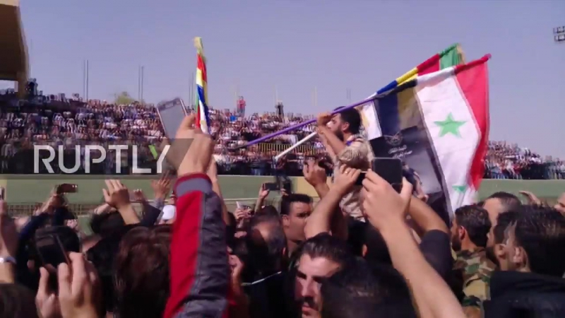 Syria_ Funeral for Syrian general killed in action held in al-Swedaa