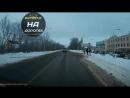 Воронеж. Пазик чуть не сбил пешехода, на переходе.