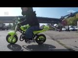 Невероятный 3-х летний мотоциклист