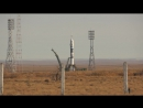 Запуск ракеты Союз ТМА-11М на космодроме Байконур.
