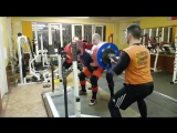 Алексей Никулин, приседания 335 кг на 2 раза
