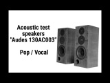 Acoustic test speakers