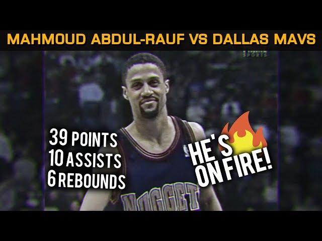 Mahmoud Abdul-Rauf Vs Dallas Mavs: Schooling Jason Kidd w Pumpfakes Pullups! (11.24.1995)