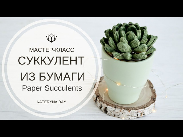 МАСТЕР-КЛАСС СУККУЛЕНТ ИЗ БУМАГИ / DIY Paper Succulents / How To Make Succulent From Crepe Paper