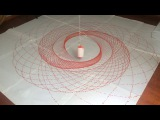 Oddly satisfying pendulum with paint finds path to equilibrium