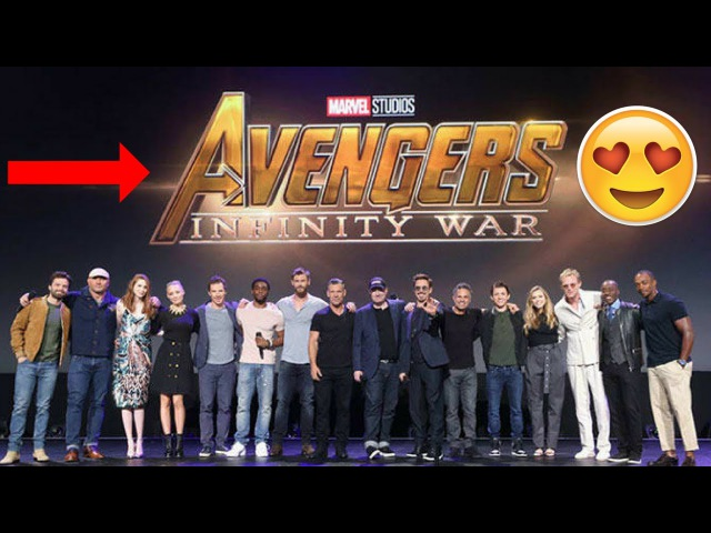 Avengers Infinity War Cast get together at D-23 Expo - Tom Holland Robert Downey Jr. - 2017