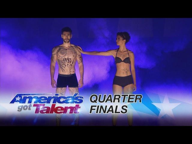 Oskar Gaspar: Spellbinding Human Projection Act Shines - America's Got Talent 2017