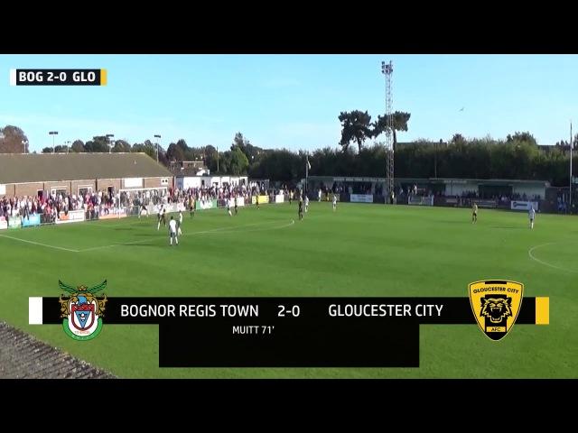 Bognor Regis Town 2-2 Gloucester City - Match highlights (23/09/2017)