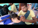 Ayurvedic Back and Shoulder Massage Pokhara Nepal Barbershop I ASMR