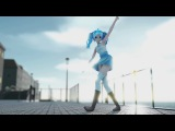 【MMD】「DEEP BLUE SONG」4K60fps .初音ミク 【Camera DL】