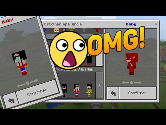 Minecraft PE : COMO VIRAR BEBÊ, SKIN PACK 4D BABY ! (Minecraft Pocket Edition)