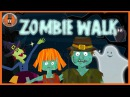 Zombie Walk | Halloween Song for Kids | The Singing Walrus