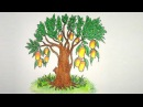 How to Drawing Mango Tree step by (Very Easy)