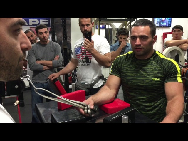 Rustam Babaiev and Vazgen Soghoyan Armwrestling Training- Wrist move towards bicep