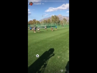Mo Salah is out of this world. What a goal today in training at Marbella