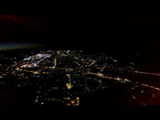 Ночной Мурманск (высота 1100 м, ветер 7 м_с)